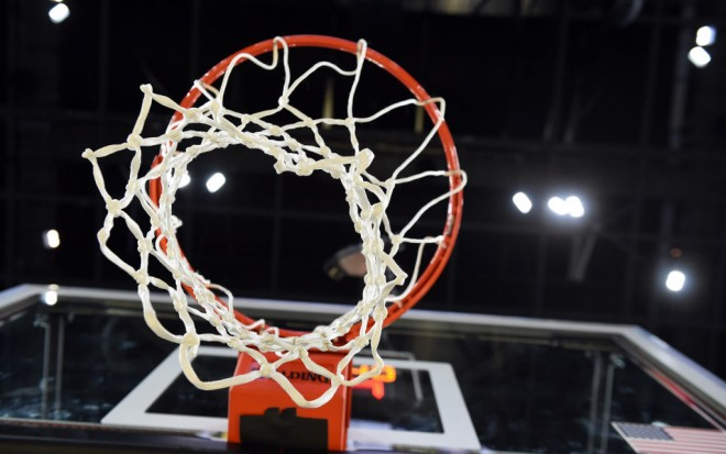 LAS VEGAS, NV - MARCH 11:  A basketball hoop, net and backboard is shown before the championship game of the Pac-12 Basketball Tournament between the Arizona Wildcats and the Oregon Ducks at T-Mobile Arena on March 11, 2017 in Las Vegas, Nevada. Arizona won 83-80.  (Photo by Ethan Miller/Getty Images)