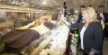 Split,17.09.2017 - Predsjednica RH Grabar Kitarovic obisla sarkofag sveca  Leopolda Mandica